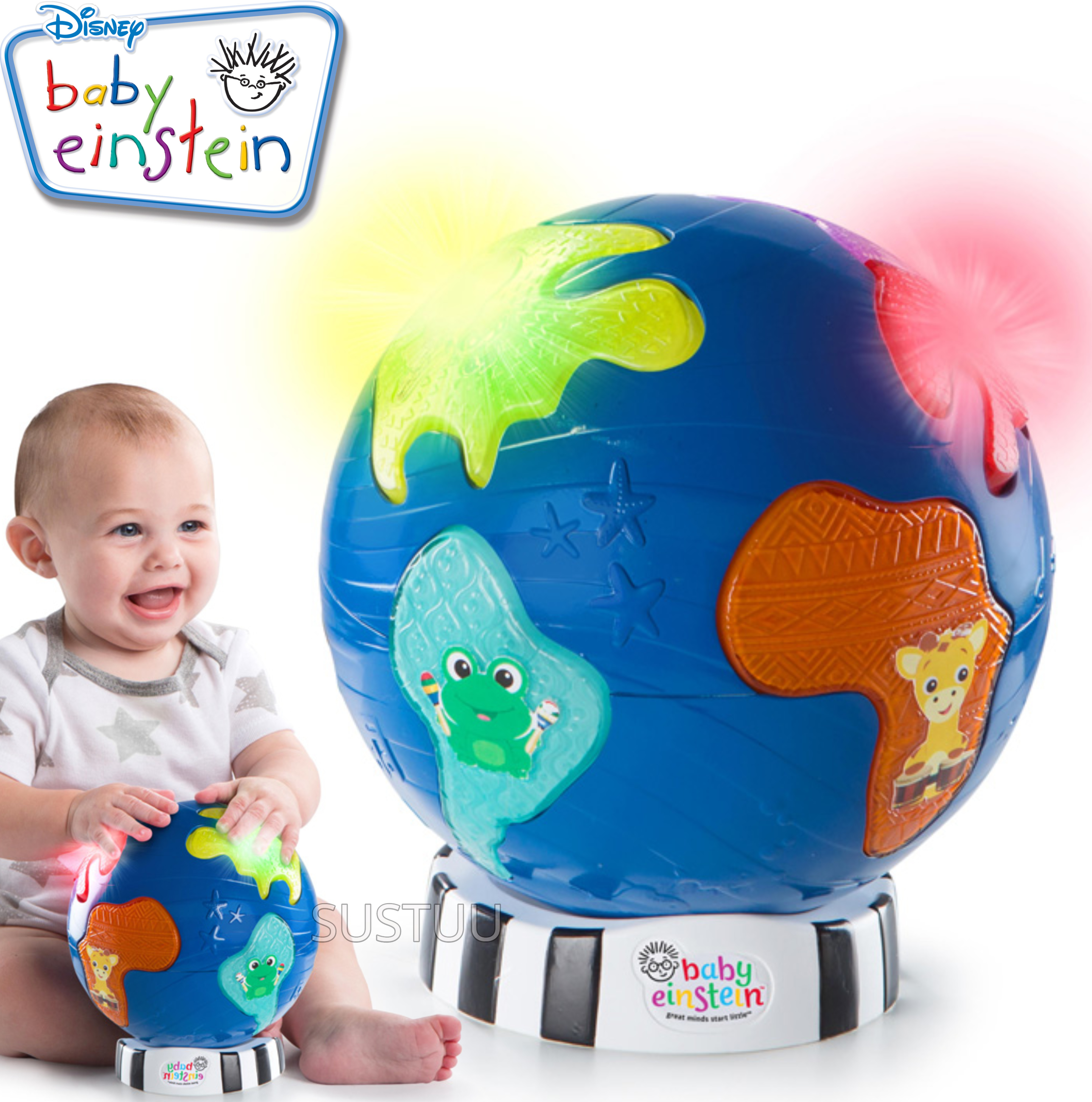 Baby Einstein Music Discovery Globe | Kids Learning Activity Toy With Light & Play Mode