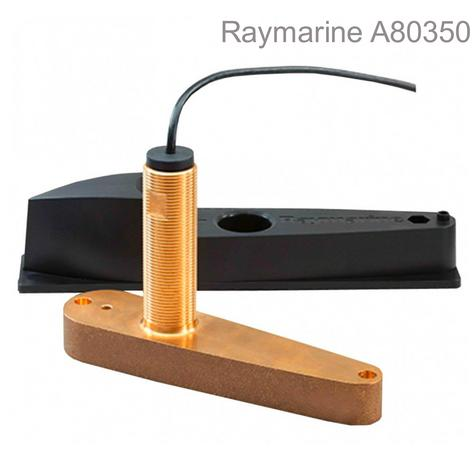 Raymarine-A80350|CPT-120 Bronze Thru-Hull Chirp Transducer|10m Cable|Depth &Temp Thumbnail 1