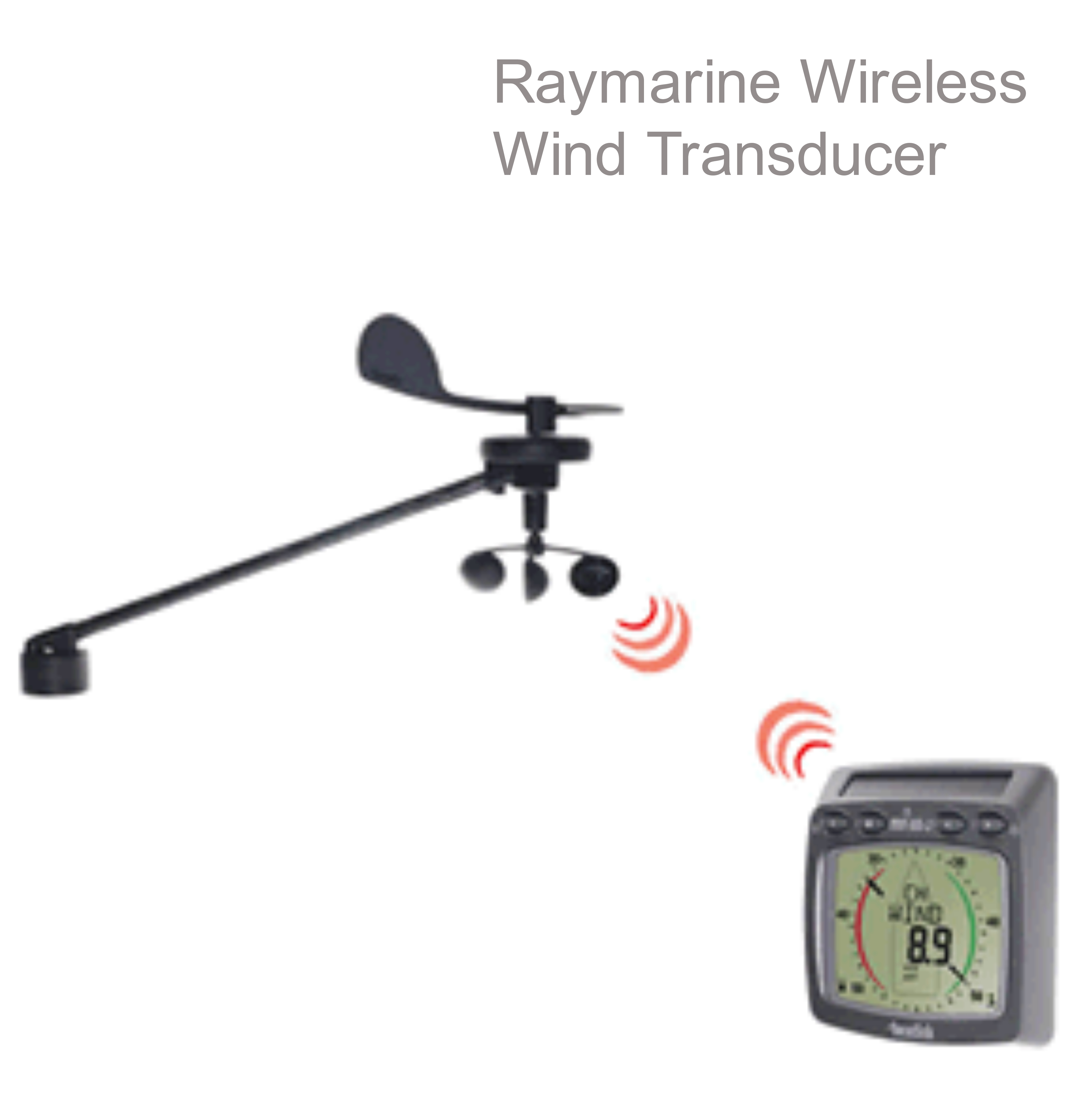 Raymarine T120 Wireless Wind Transducer|SolarPower|Waterproof|Wind Speed|VGA|Compass|For Marine
