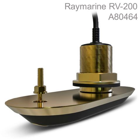 Raymarine RV-200 RealVision 3D Bronze Thru-Hull Transducer-0°|8m Cable|For Axiom MFD Thumbnail 1