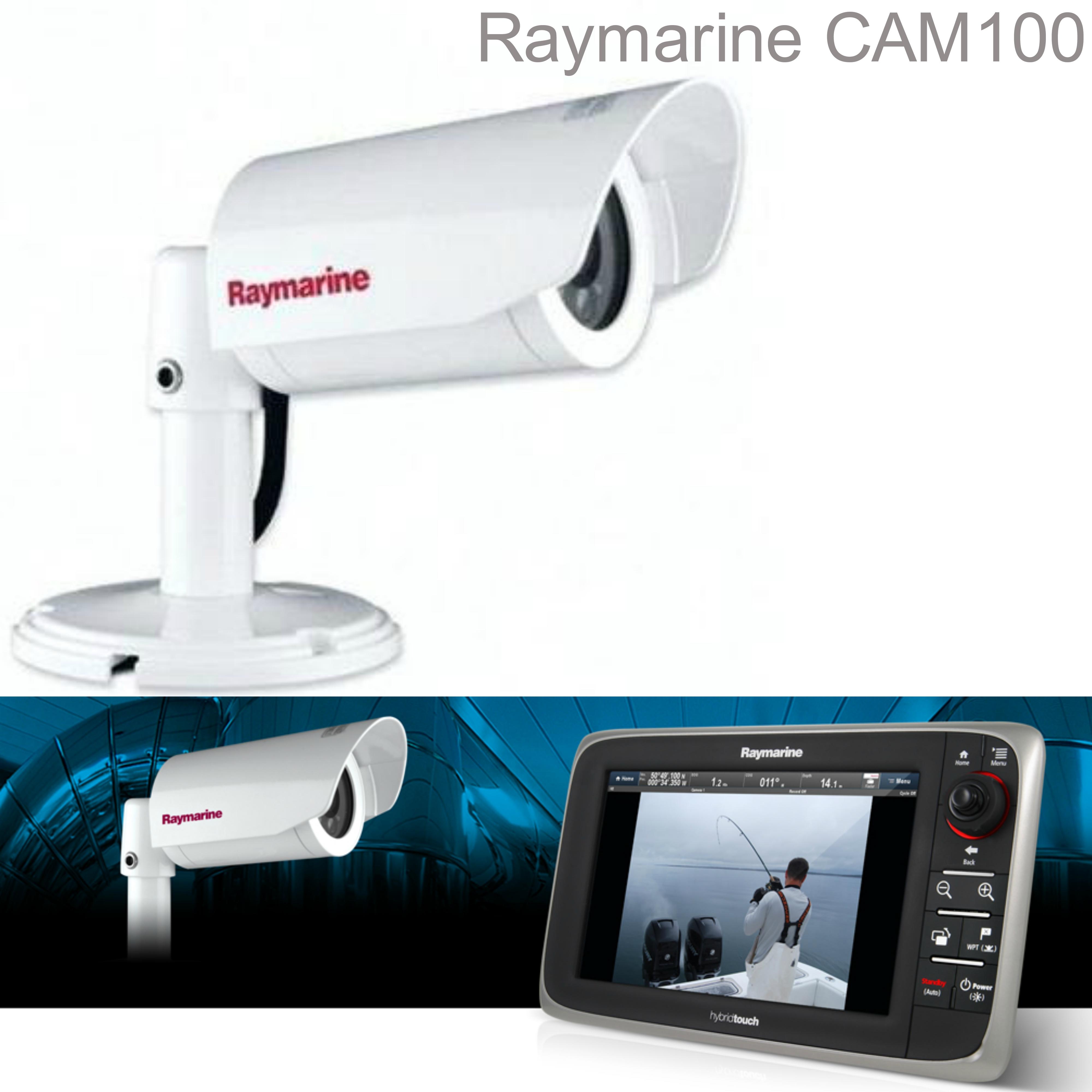 Raymarine CAM 100 Marine CCTV PALVideo Camera Day & Night 550 TVL 14 IR LED IPX6