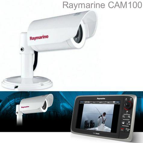 Raymarine CAM 100 Marine CCTV PALVideo Camera Day & Night 550 TVL 14 IR LED IPX6 Thumbnail 1