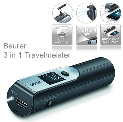 Beurer LS50 3 in 1 Travelmeister|Power Bank Charger|Luggage Straped Scale|Torch| Thumbnail 1