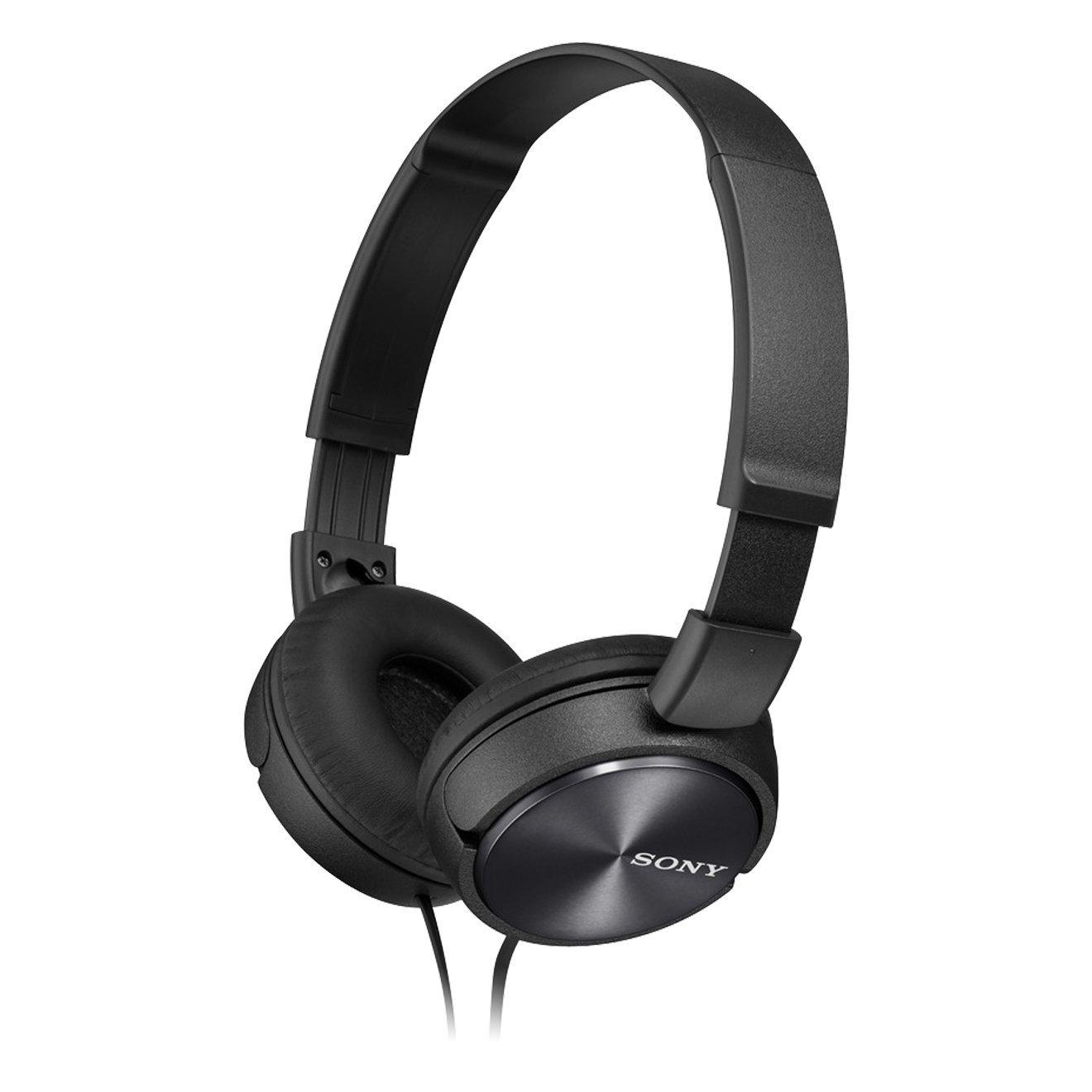 Sony MDRZX310APB Folding Stereo Headphones|Smartphone Mic Control|Metallic Black