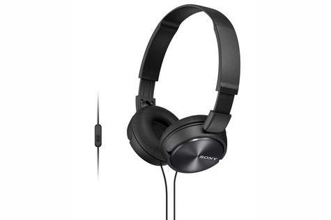 Sony MDRZX310APB Folding Stereo Headphones|Smartphone Mic Control|Metallic Black Thumbnail 3
