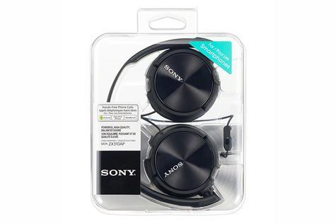 Sony MDRZX310APB Folding Stereo Headphones|Smartphone Mic Control|Metallic Black Thumbnail 4