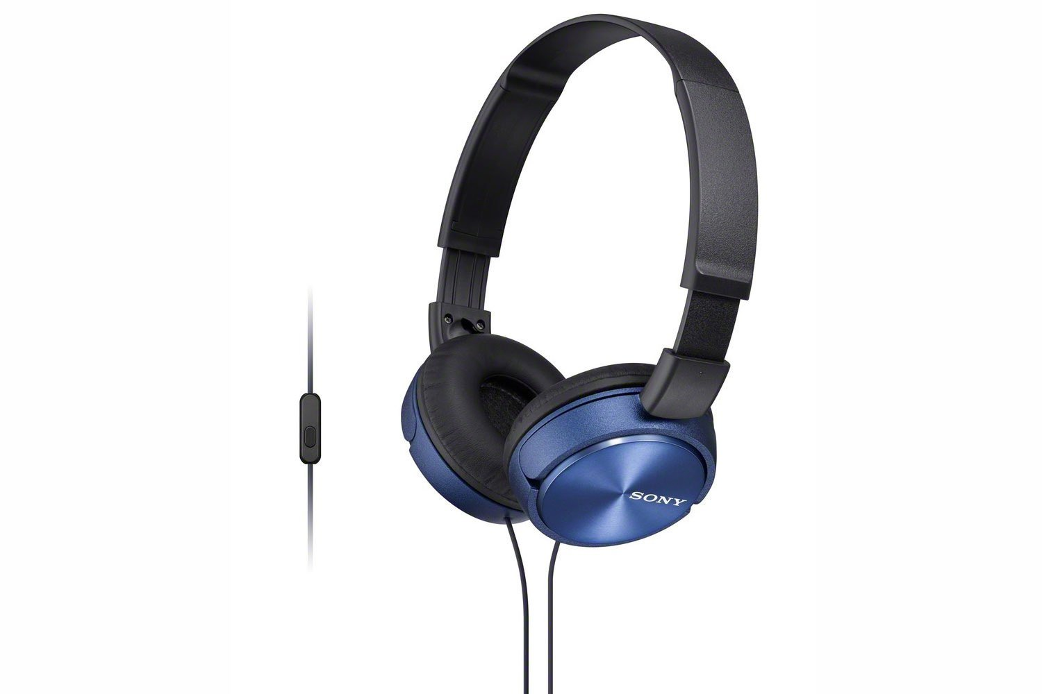 Sony MDRZX310APL Folding Stereo Headphones?Smartphone Mic Control?Metallic Blue