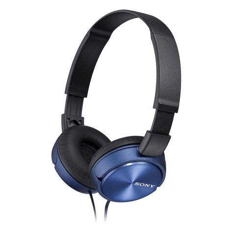Sony MDRZX310APL Folding Stereo Headphones?Smartphone Mic Control?Metallic Blue Thumbnail 2
