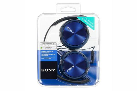Sony MDRZX310APL Folding Stereo Headphones?Smartphone Mic Control?Metallic Blue Thumbnail 3