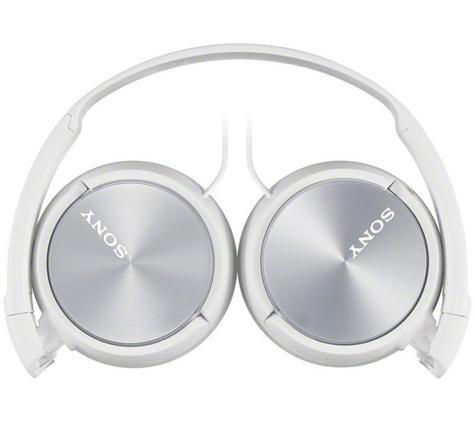 Sony MDRZX310APW Folding Stereo Headphones|Smartphone Mic Control|Metallic White Thumbnail 2
