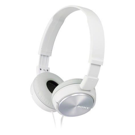 Sony MDRZX310APW Folding Stereo Headphones|Smartphone Mic Control|Metallic White Thumbnail 4