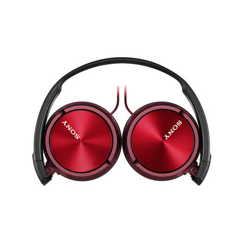 Sony MDRZX310APR Folding Stereo Headphones|Smartphone Mic Control|Metallic Red Thumbnail 2