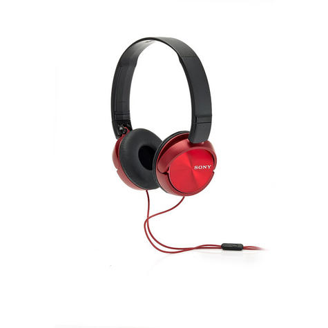 Sony MDRZX310APR Folding Stereo Headphones|Smartphone Mic Control|Metallic Red Thumbnail 3