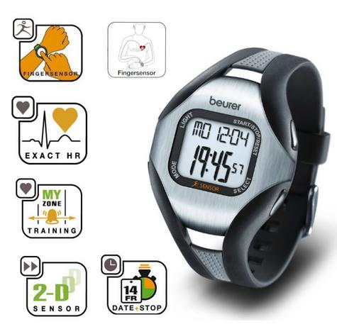 Beurer PM18 Heart Rate Monitor|Pulse/Calorie/Fate|Sports Wrist Watch|Finger Sens Thumbnail 2