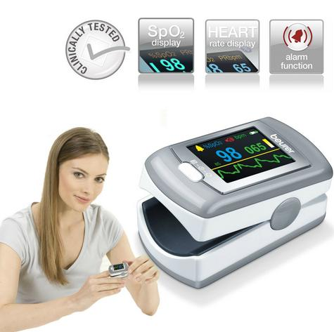 Beurer PO80 Pulse Oximeter|Arterial Oxygen Saturation|Heart Rate|Pain Free Count Thumbnail 1