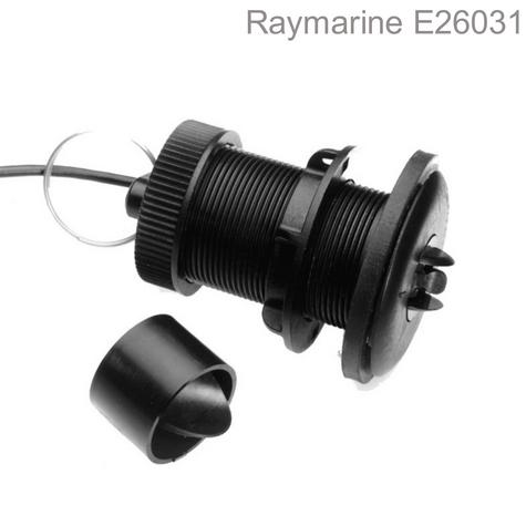 Raymarine ST800/P120 Plastic Thru-Hull LP Speed Transducer & 14m Cable|Retractable Thumbnail 1