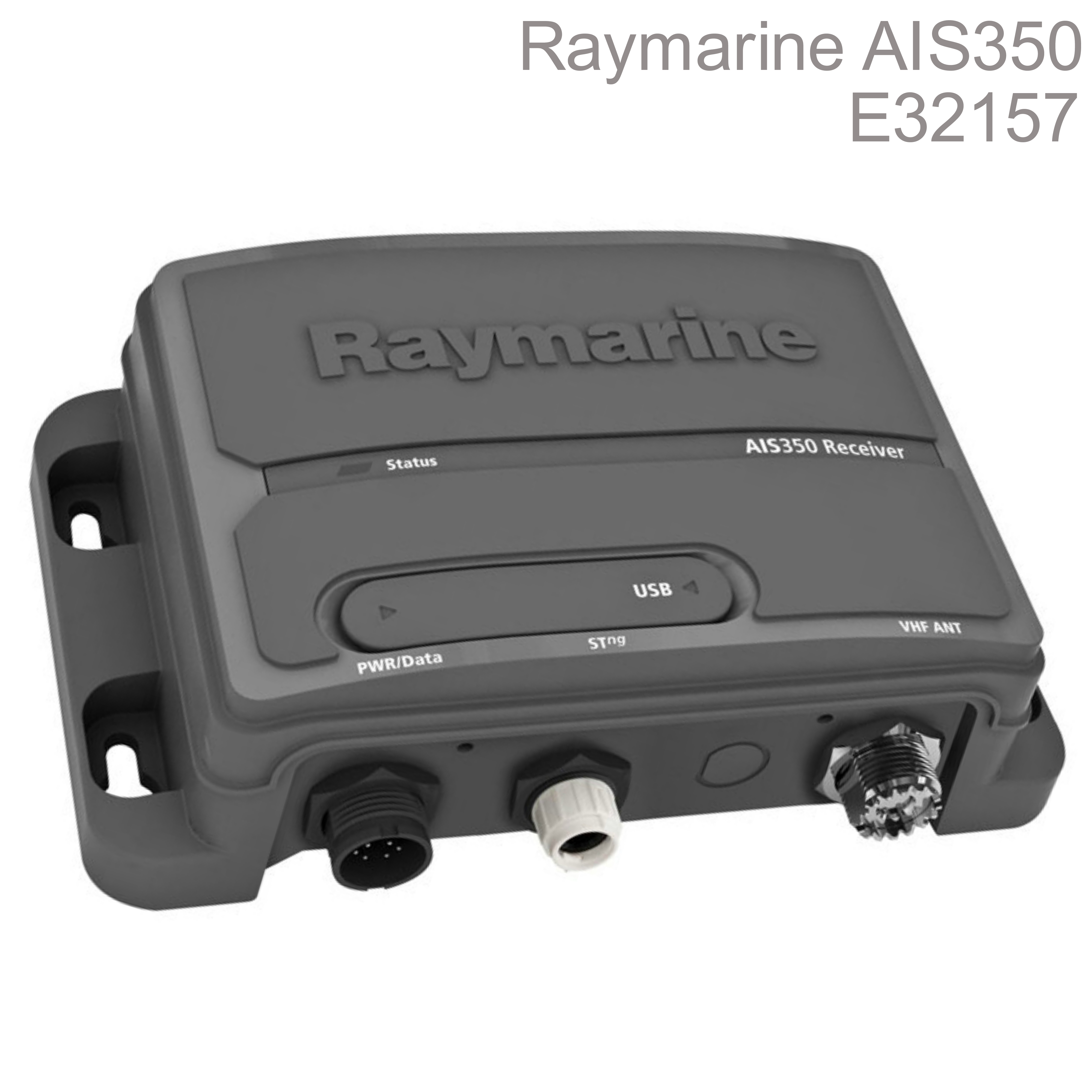 Raymarine-E32157|AIS350 Dual Channel AIS Receiver|USB Port|IPX2|For NMEA/MFD/VHF