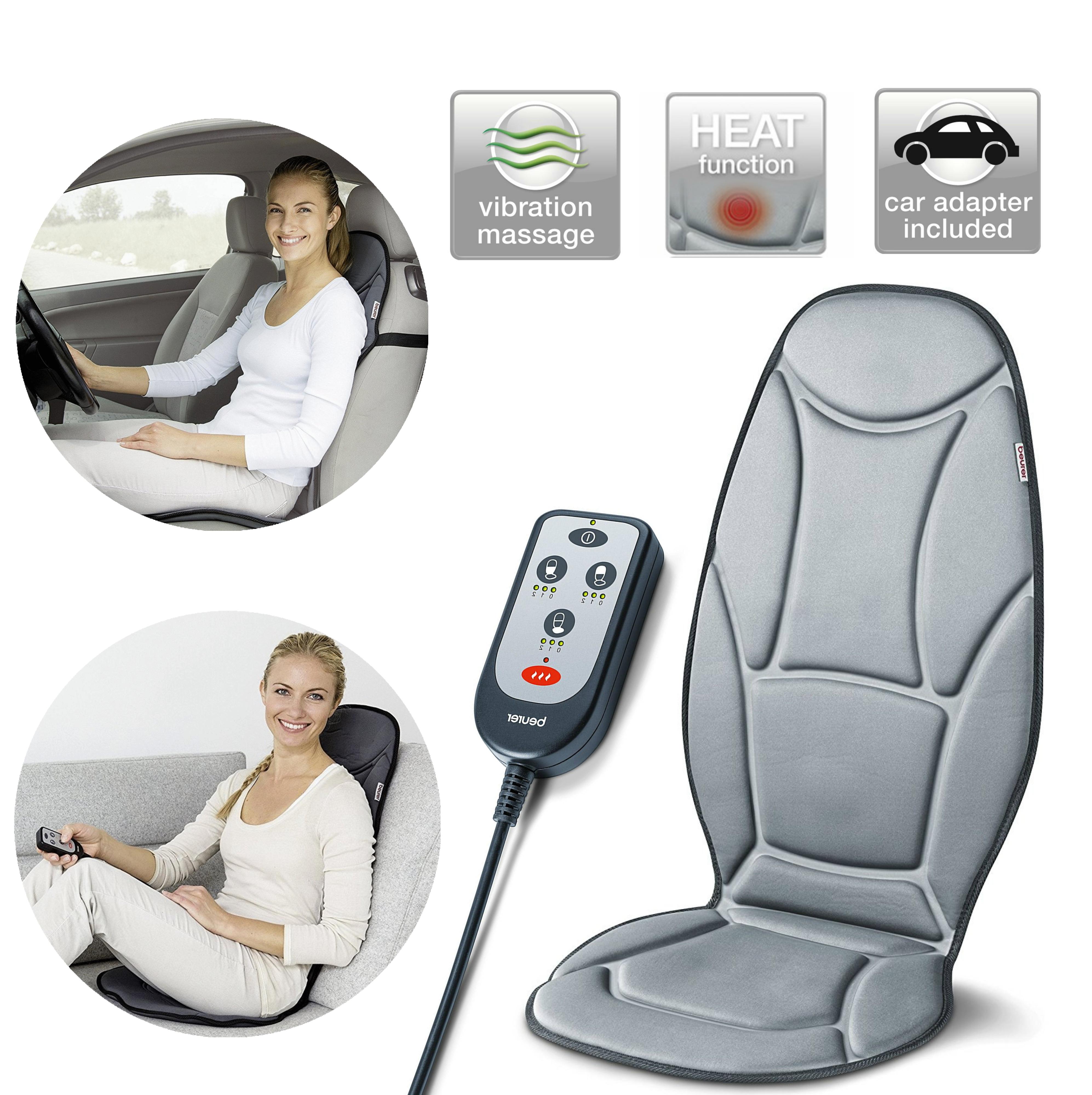Beurer MG155 Vibrating Seat Cover|Soothing Vibration Massage|Back Neck & Shoulde