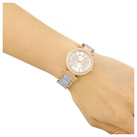 Michael Kors Mini Parker Ladies Watch|Chronograph Dial|Dual Tone Bracelet|MK6327 Thumbnail 3
