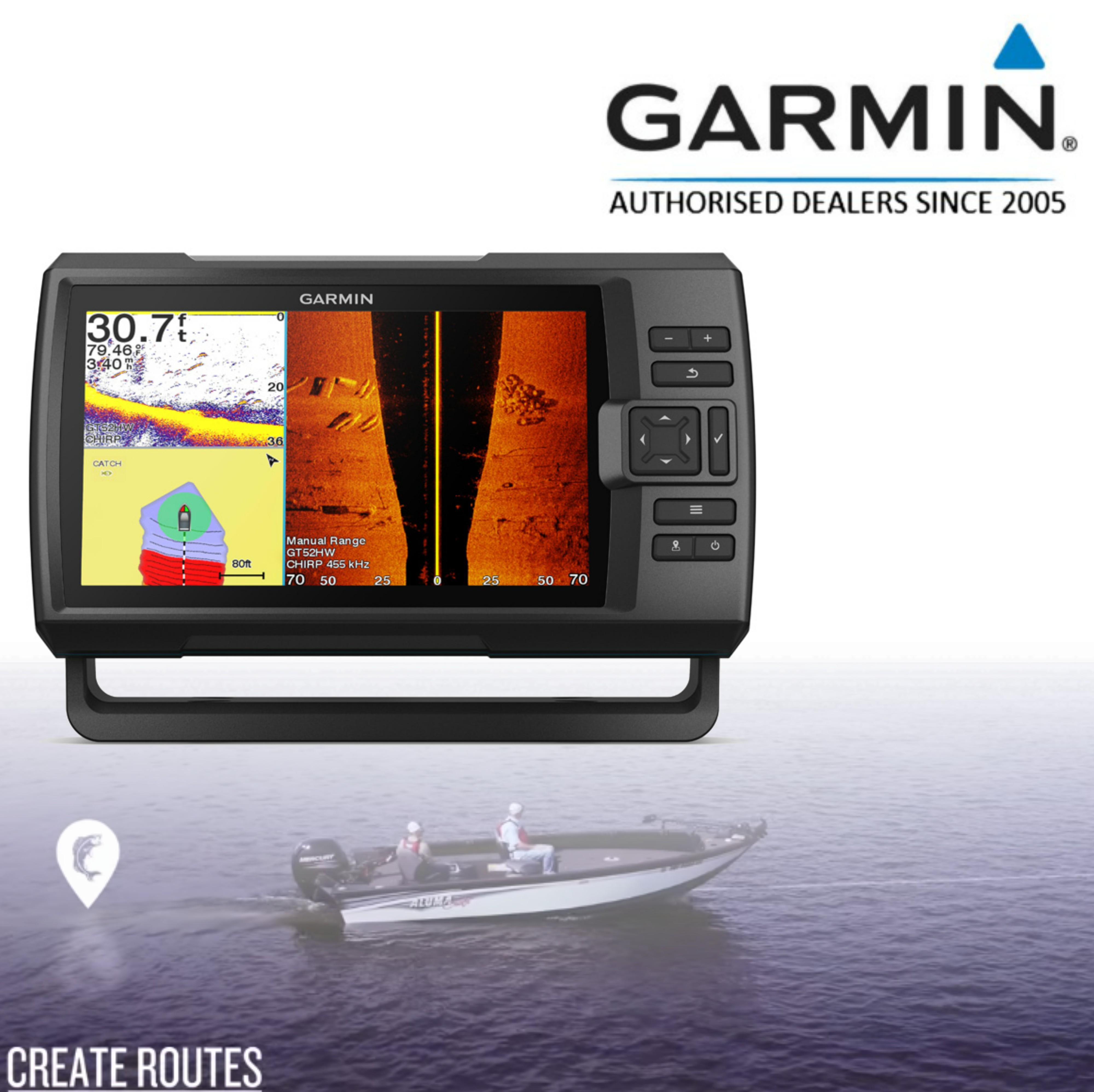 Garmin STRIKER Plus 9sv|IPX7|GPS|Fish Finder|Active Captain|Transducer|In Marine