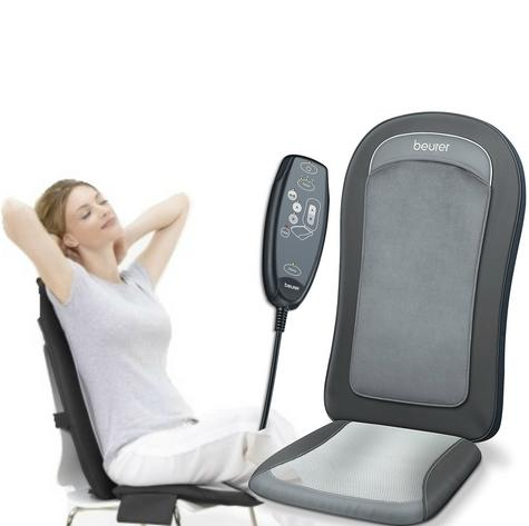 Beurer MG206 Space Saving Shiatsu Seat Cover|Back Pain Body Heat Massage|Timer| Thumbnail 1