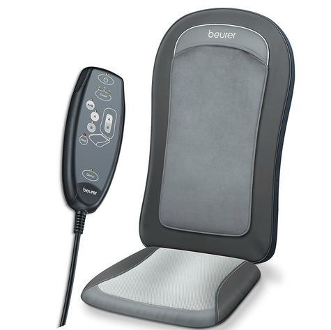 Beurer MG206 Space Saving Shiatsu Seat Cover Back Pain Body Heat Massage Timer  Thumbnail 2
