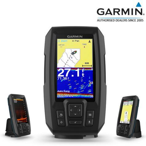 Garmin STRIKER Plus 4cv|GT20-TM Transom Transducer|GPS|IPX7|Fish Finder|In Marine Thumbnail 1