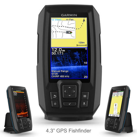 Garmin STRIKER Plus 4cv & GT20-TM Transom Transducer | GPS Fish Finder | IPX7 | For Marine Thumbnail 2