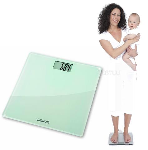 Omron HN286 Digital Slim Bathroom Scale?Personal Body Weight?LCD Display?Silver Thumbnail 1