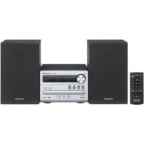 Panasonic New SCPM250EBS Bluetooth Micro Hi-FI Wireless Home Music System-Silver Thumbnail 2