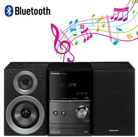 Panasonic SCPM602EBK Bluetooth Micro Hi-FI System-CD/MP3/USB/FM/DAB Radio-Black Thumbnail 1