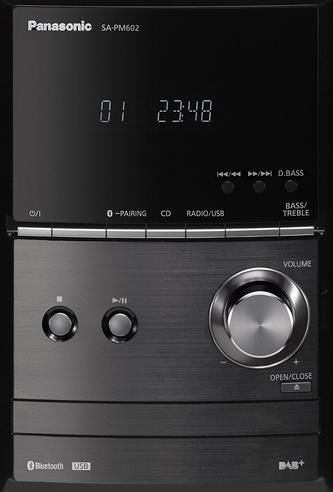 Panasonic SCPM602EBK Bluetooth Micro Hi-FI System-CD/MP3/USB/FM/DAB Radio-Black Thumbnail 5