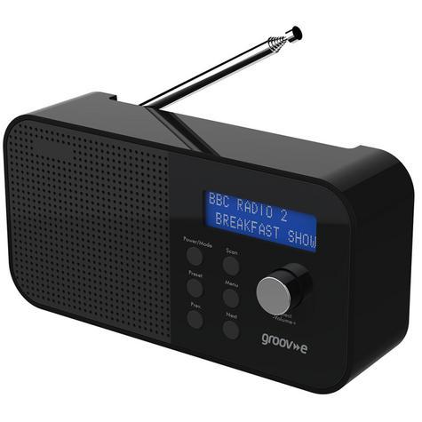 Groov-e GVDR04BK New Venice Portable DAB/FM Digital Radio|Dual Alarm|LCD|Black| Thumbnail 2