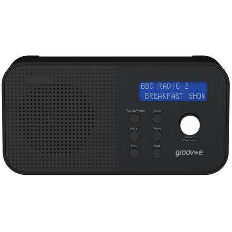 Groov-e GVDR04BK New Venice Portable DAB/FM Digital Radio|Dual Alarm|LCD|Black| Thumbnail 3