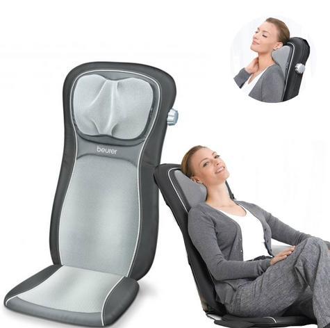 Beurer MG260B Shiatsu Massage Seat Cover|Back Pain Body Heat Massage|HD Black| Thumbnail 1