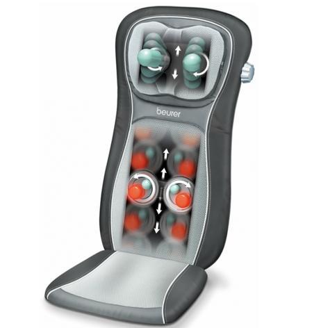 Beurer MG260B Shiatsu Massage Seat Cover|Back Pain Body Heat Massage|HD Black| Thumbnail 3