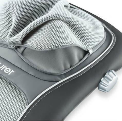 Beurer MG260B Shiatsu Massage Seat Cover|Back Pain Body Heat Massage|HD Black| Thumbnail 4