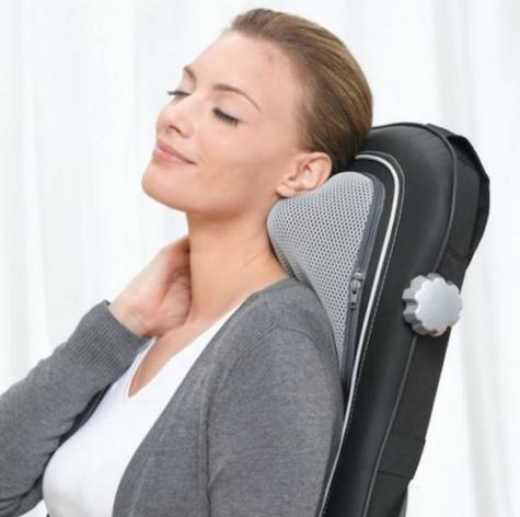Beurer MG260B Shiatsu Massage Seat Cover|Back Pain Body Heat Massage|HD Black| Thumbnail 6