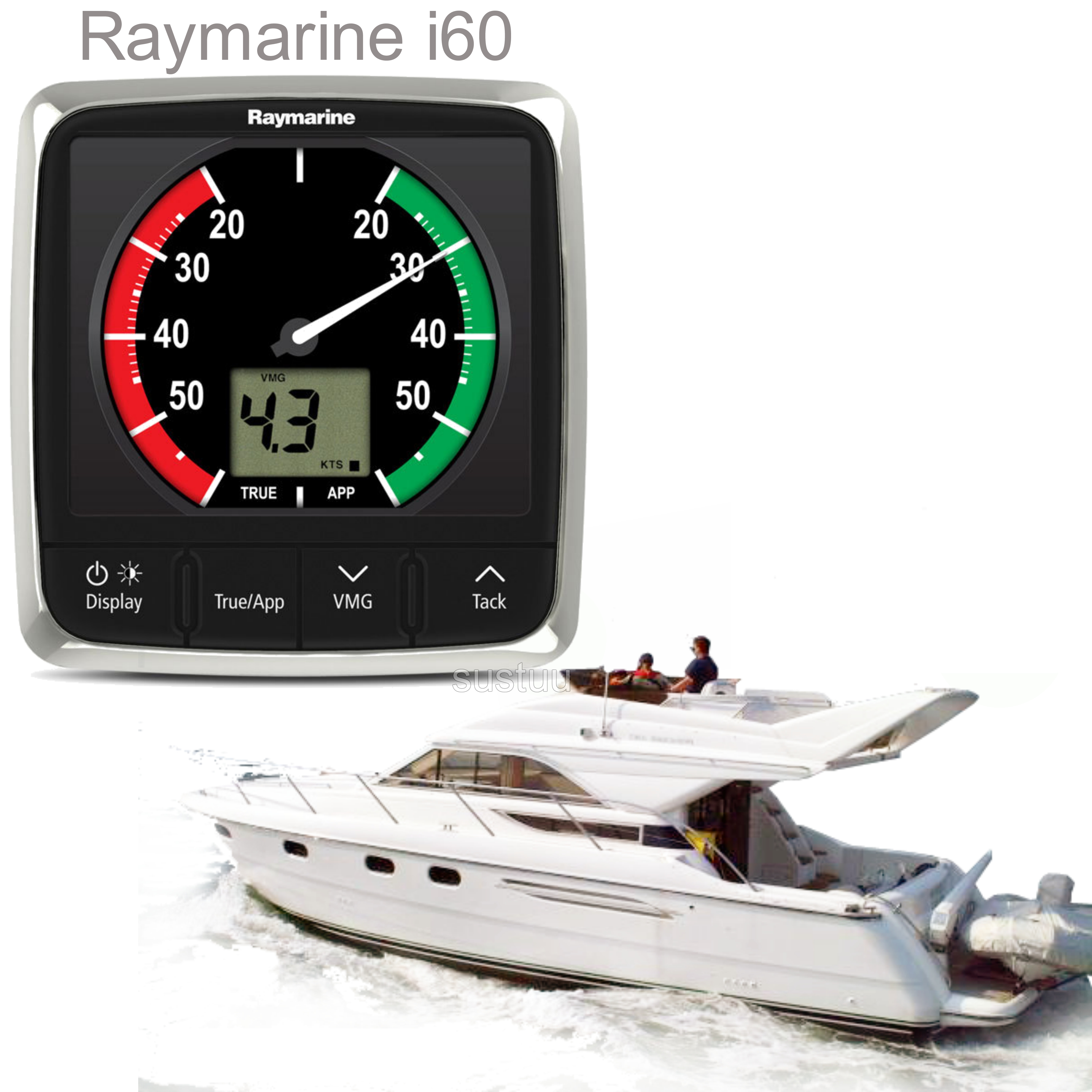 Raymarine E70062|i60 Close Hauled Wind Instrument Display|Analogue|For Sailboaters