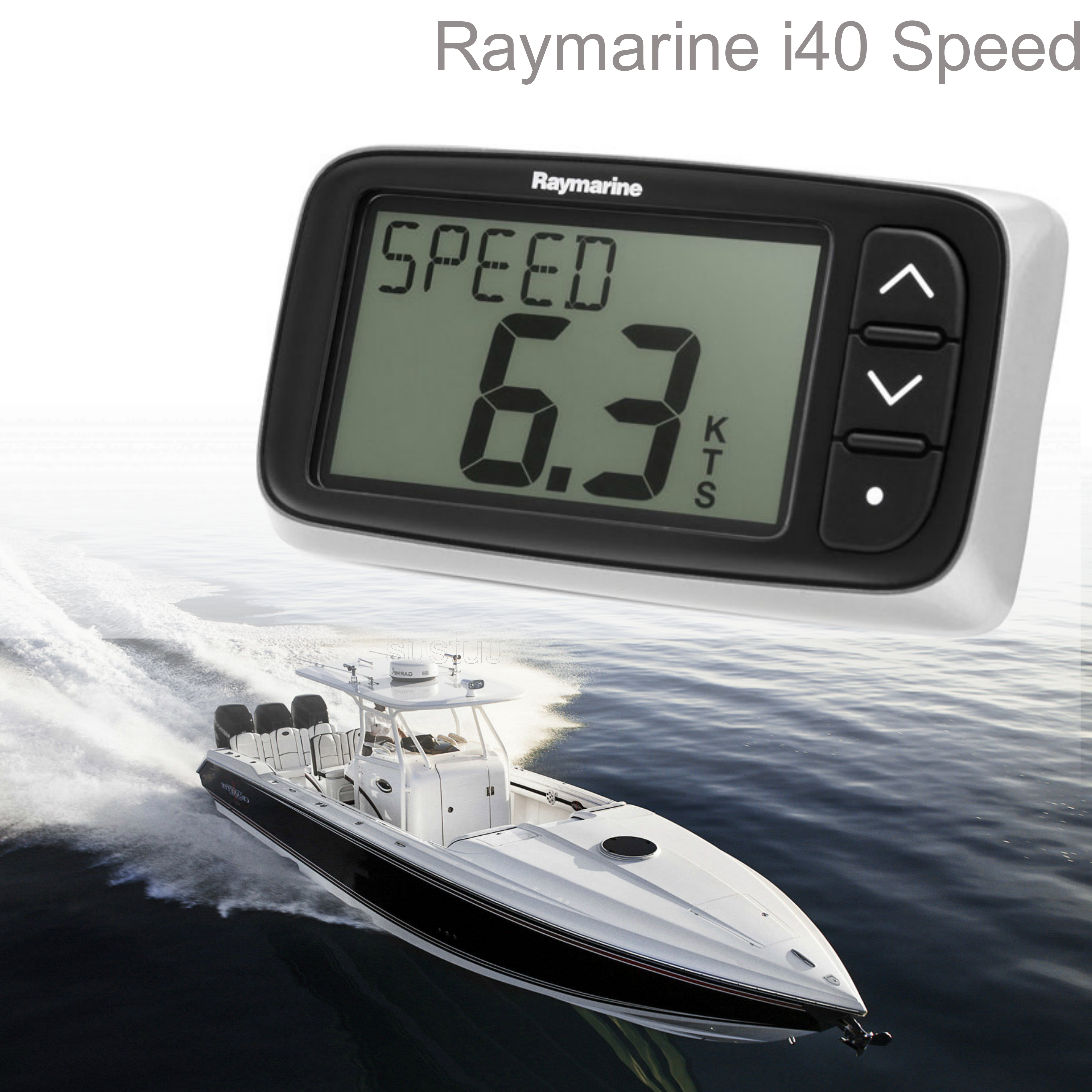 Raymarine E70063|i40 Speed Instrument|Sharp LCDs Display|Low Power|For Yacht & Ribs