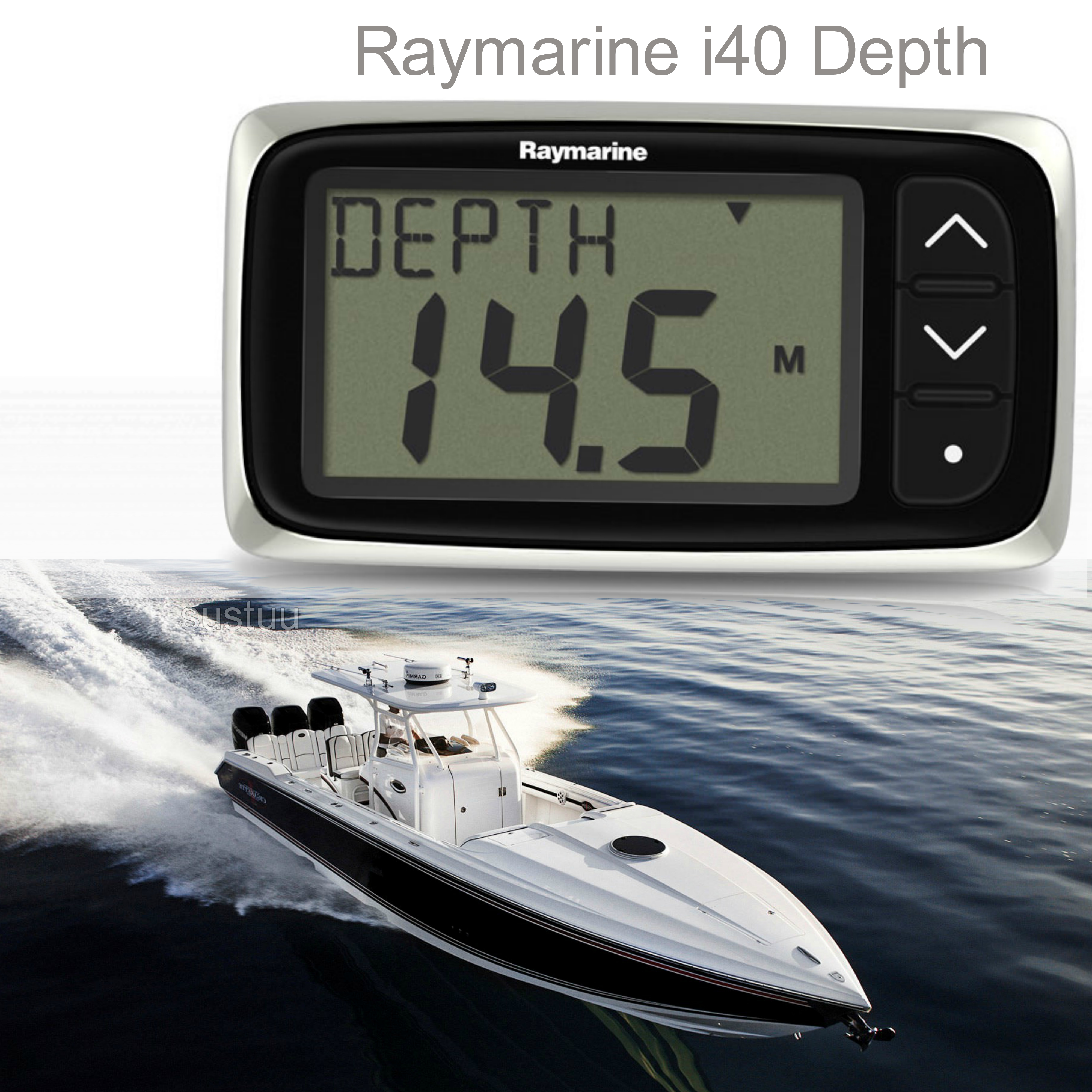 Raymarine E70064|i40 Depth Instrument Display|Sharp LCDs|Low Power|For Yacht & Ribs