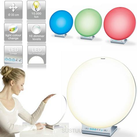 Beurer TL100 2 in 1 Daylight & Moodlight Colour Lamp?Imbalance/Low Mood Relief Thumbnail 1