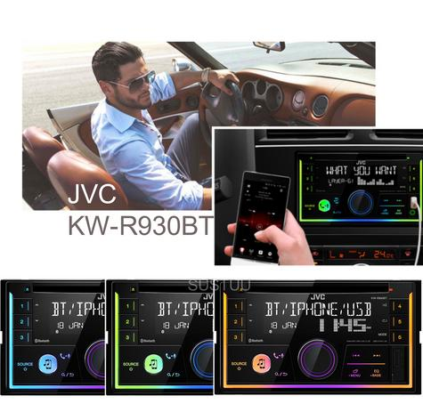 JVC In Car CD Receiver|2DIN|MP3|USB|Aux|Bluetooth|iPod-iPhone-Android-Blackberry Thumbnail 1
