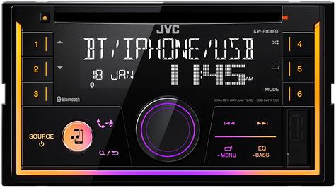 JVC In Car CD Receiver|2DIN|MP3|USB|Aux|Bluetooth|iPod-iPhone-Android-Blackberry Thumbnail 5