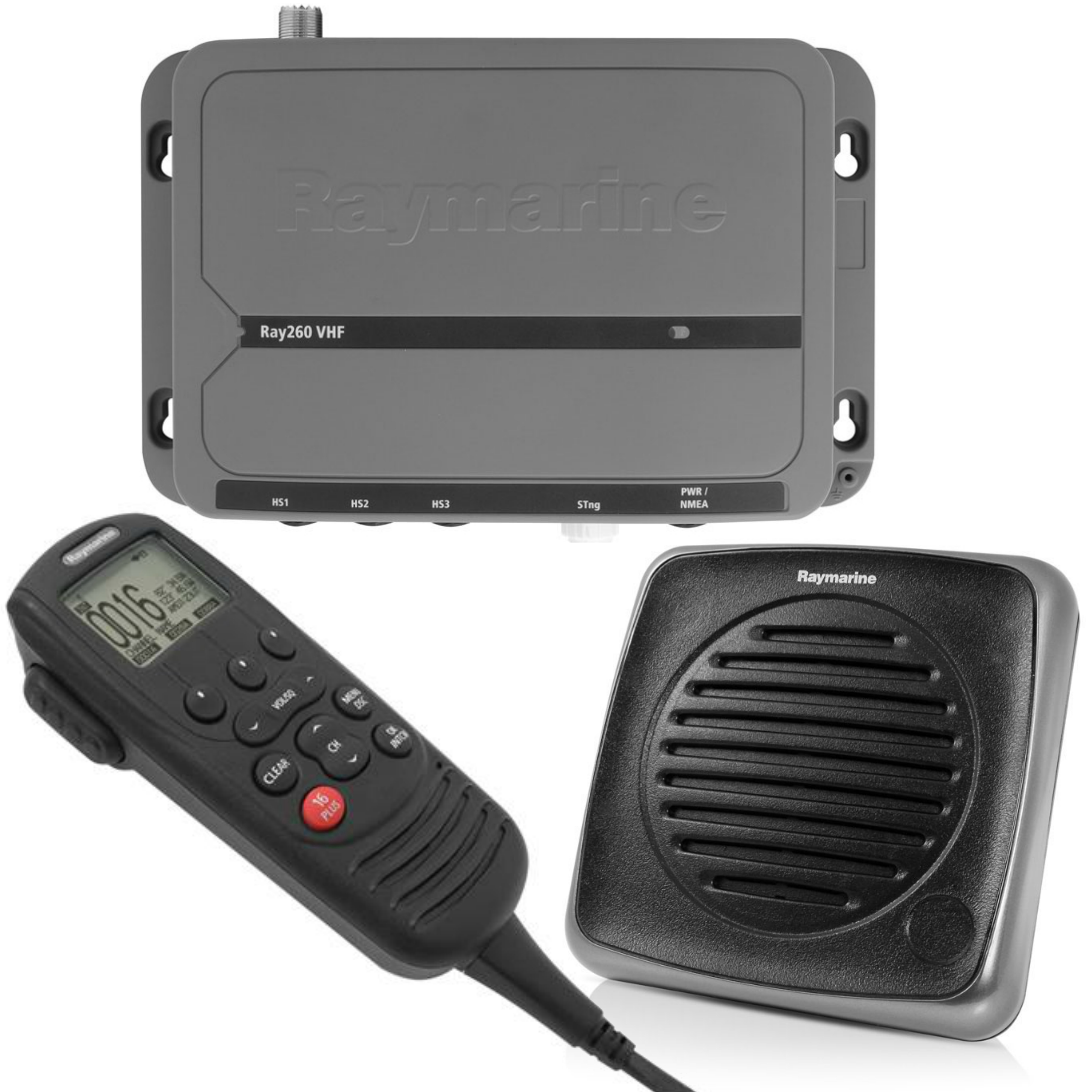 Raymarine E70090|RAY 260 VHF Radio|AIS-Receiver|25W|Class-D DSC|Full-Featured|For Marine