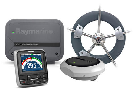 Raymarine Evolution Wheel Pilot|p70 Control Head|ACU-100 & Wheel Drive|In Marine Thumbnail 2