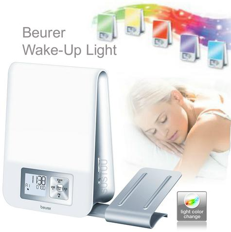 Beurer WL80 Wake-Up Light|Wellness Melody Alarm Clock|Radio|Smartphone Holder| Thumbnail 1