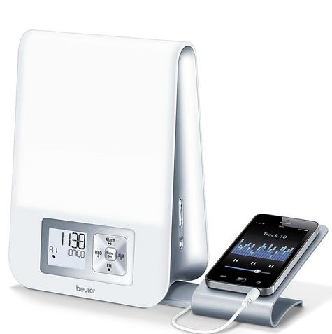 Beurer WL80 Wake-Up Light|Wellness Melody Alarm Clock|Radio|Smartphone Holder| Thumbnail 4