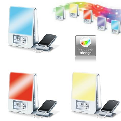 Beurer WL80 Wake-Up Light|Wellness Melody Alarm Clock|Radio|Smartphone Holder| Thumbnail 3