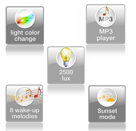 Beurer WL80 Wake-Up Light|Wellness Melody Alarm Clock|Radio|Smartphone Holder| Thumbnail 6
